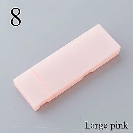 Bonito estuche de plástico transparente de polipropileno Kawaii para lápices, caja de regalo para niños, oficina, escuela, material para estudiantes, color large pink: Amazon.es: Oficina y papelería