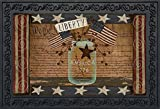 Briarwood Lane Liberty Primitive Doormat Indoor Outdoor Patriotic Holiday Mason Jar 18'' x 30''