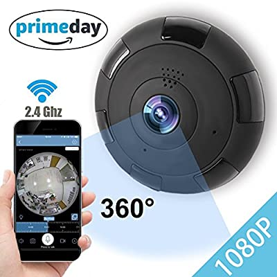 IP Camera 360 WIFI 1080P Outdoor Indoor Dome Camera Panoramic with Audio Motion Detection Alarm Monitor at Night for Home Security Support TF Card Android IOS,Home Electronic from ONMet