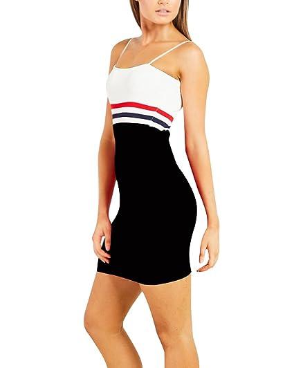 Tomwell Vestido corto sin mangas con estampado de playa de verano de Boho para mujer sin