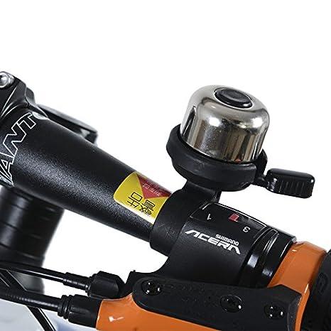 RockBros Cycling Bicycle Bell MTB Bike Handlebar Ring Bell Copper Horn Black