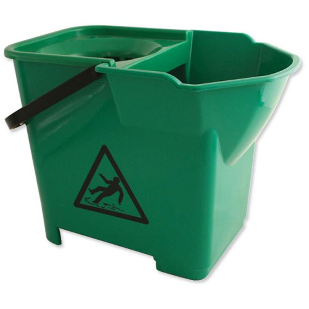 Janilec Heavy Duty Mop Bucket Green 16 Litre CL016-GN