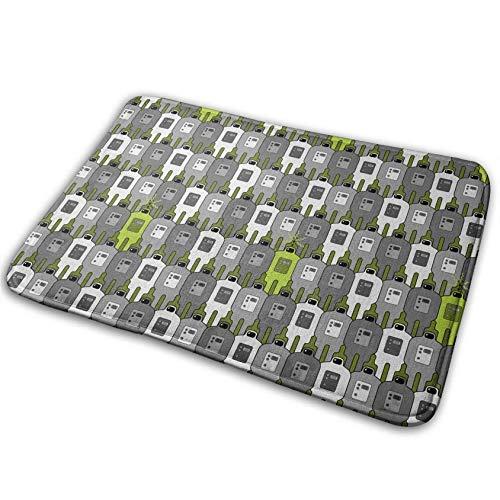Lakssn Non Slip Door Mat Outdoor,Decorative Garden Office Bathroom Door Mat with Non Slip, Seamless Machine Entry Way Outdoor Door Mat Bathroom Comfort Mats Rubber Non Slip Backing Indoor Uses