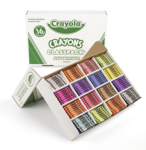 Crayola Bulk Crayons, 800 Count Classpack, 16 Assorted Colors