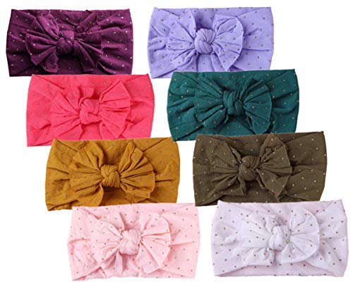 Baby Headbands Turban Knotted, Girl's Hairbands for Newborn,Toddler and Childrens (8Pack New-CL20)