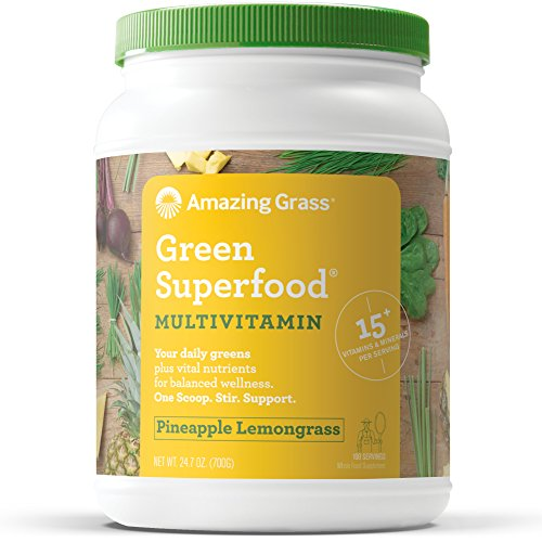 Amazing Grass Green Superfood Multi-Vitamin Powder with Whea