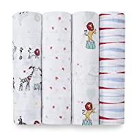 aden + anais swaddle 4 pack, vintage circus
