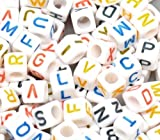 Alphabet Letter Beads 7mm, 200pc