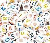 Femitu Alphabet Letter Beads 7mm, 200pc