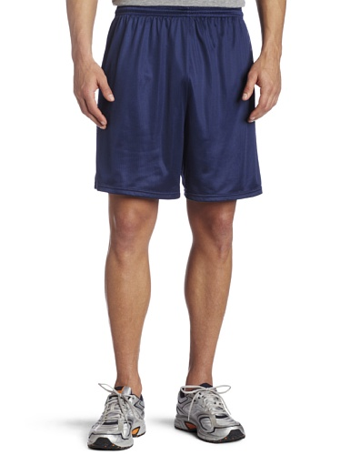 Soffe Men's Nylon Mini-Mesh Fitness Short Navy  Large