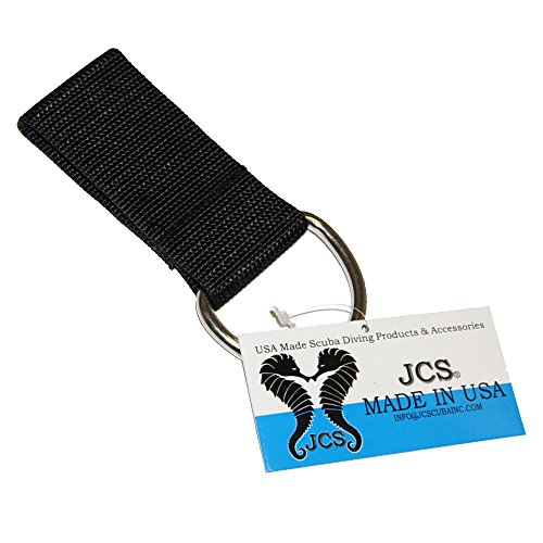 JCS Weight Belt Ring with 2 inch D-Ring, Black
