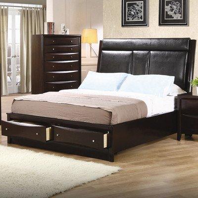 Coaster Footboard Box 2 Of 3-Deep (Cappuccino Platform Bed Set)