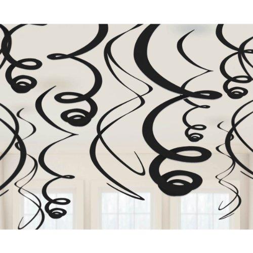 Amscan Intense Jet Plastic Swirl Decorations, 22