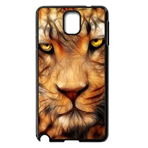 Samsung Galaxy Note 3 N9000 2D DIY Hard Back Durable Phone Case with Fractal Tiger Image