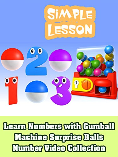 Learn Numbers with Gumball Machine Surprise Balls - Number Video Collection ()