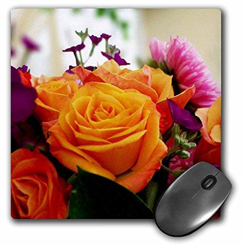 3dRose Dawn Gagnon Photography Florals - Joyous Bouquet, A colorful burst of flowers in a joyful arrangement - MousePad (mp_120456_1)