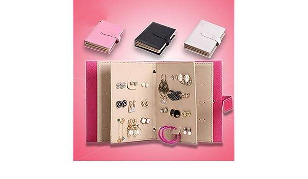 Amazon.com: 2017 Storage Earring Book Portable Show Creative Jewelry PU Leather Earring Storage Box Organize Maquillage Boite de Rangement: Baby
