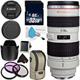 Canon EF 70-200mm f/2.8L USM Telephoto Zoom Lens Bundle for Canon SLR Digital Cameras Intl Model - Advanced