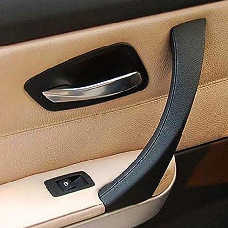 Cikuso pour BMW E90 3 S/érie Voiture Sedan Gauche Int/érieur Poign/ée de Panneau de Porte Couverture Garniture Ext/érieur Gris