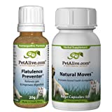 PetAlive Natural Moves and Flatulence Preventer ComboPack, My Pet Supplies
