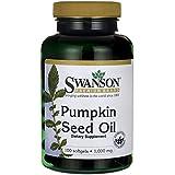 Swanson - Huile de Pépins/Graines de Courge (Citrouille) 1000mg, 100 gélules - Oméga 3 & 6 - Prostate & Système Urinaire - Complément Bio-Actif Naturel Ayurvédique/Ayurvéda (Pumpkin Seed Oil capsules)