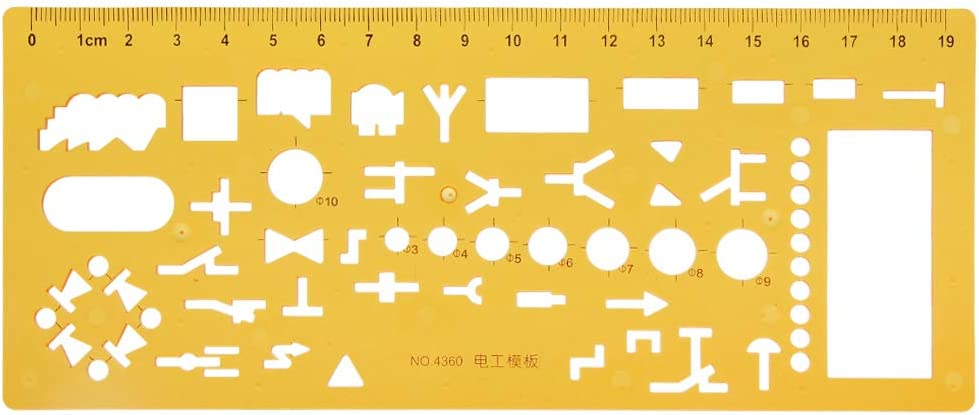 niumanery Architecture Building Design Drawing Template Ruler Stencil Measuring Tool New
