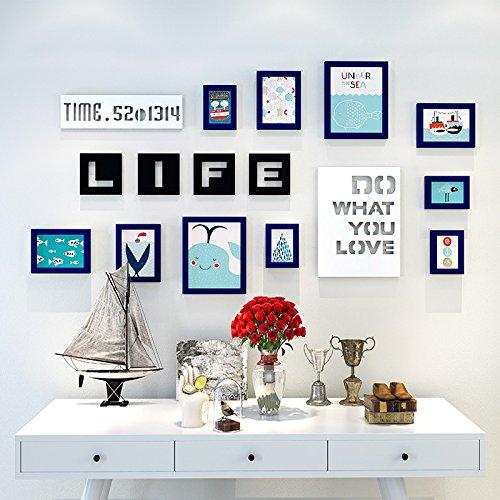 Bilderrahmen der Wall Kombination Kinder Zimmer cartoon Foto an der Wand mit Buchstaben keine Kratzer Nägel, dunkelblau Cartoon picture element im Mittelmeer
