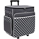 Everything Mary Grey Polka Dot Rolling Scrapbook Storage Tote