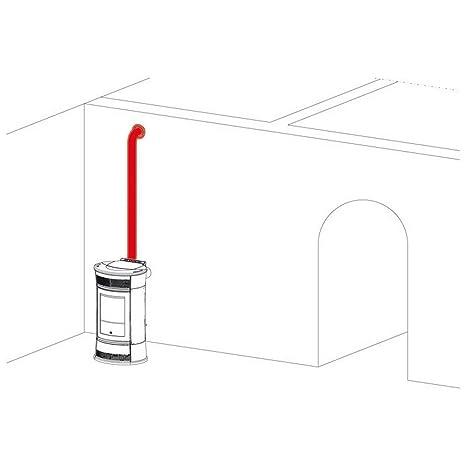 EDILKAMIN Kit Canalización Aire Caliente para Estufa de Pellets Art. 297360 Kit 8