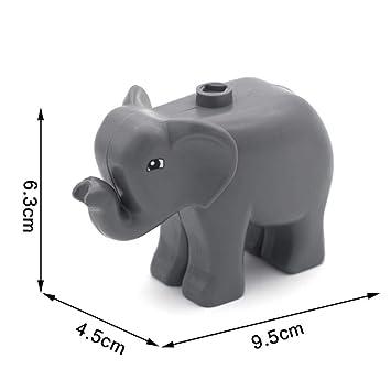 Animal Zoo Original Big Building Blocks Classic Accessories Compatible with