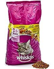 Whiskas Adult 1+ Kattenvoer, Droogvoer, Volwassen, met Kip, 1 Zak (1 x 7 kg)