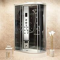 Cabina Mampara de ducha 120 x 80 de hidromasaje versión izquierda ...