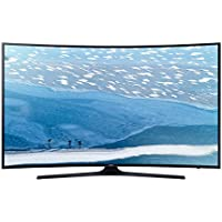 Samsung UA-65KU7350 4K UHD Curved Multi-System Smart Wi-Fi LED TV 110-240 V with Free HDMI Cable, 65, Black