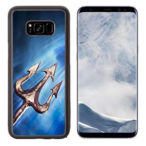 Liili Premium Samsung Galaxy S8 Plus Aluminum Backplate Bumper Snap Case Poseidon s trident on a dark sky background 28047426 ()