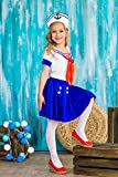 Girls Sea Sweetie Sailor Navy Ship Mate Dress Up & Role Play Halloween Costume