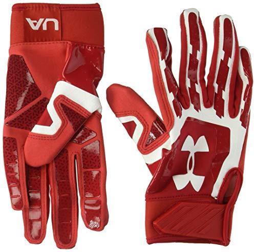 Under Armour men's  Heater Baseball Batting Gloves,Red (600)/White,Youth Medium
