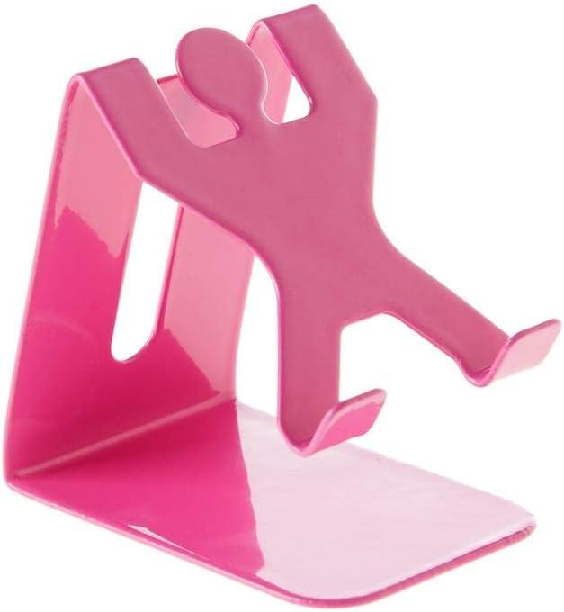 Decoración creativa para el escritorio del teléfono móvil, soporte para el teléfono móvil villano, rosa / blanco puede elegir, pequeño y lindo, fácil de transportar, plancha, puerto de carga reservado
