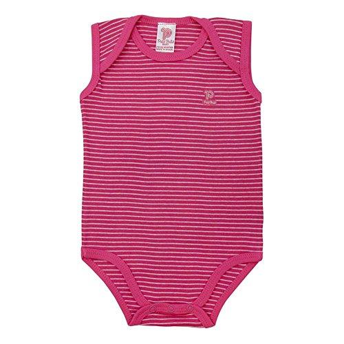 Pulla Bulla Baby Bodysuit Infant Unisex Sleeveless Striped 3-6 Months - - Striped Onesie Pink
