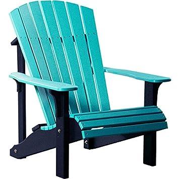 Amazoncom LuxCraft Recycled Plastic Deluxe Adirondack Chair