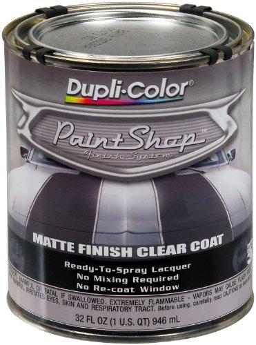 Dupli-Color (BSP307-2 PK) 'Paint Shop' Matte Finish Clear Coat Finish System Top Coat - 1 Quart, (Case of 2) ()