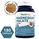 Best Magnesium Malate 1350mg 200 Capsules (NON-GMO & Gluten Free) High Potency