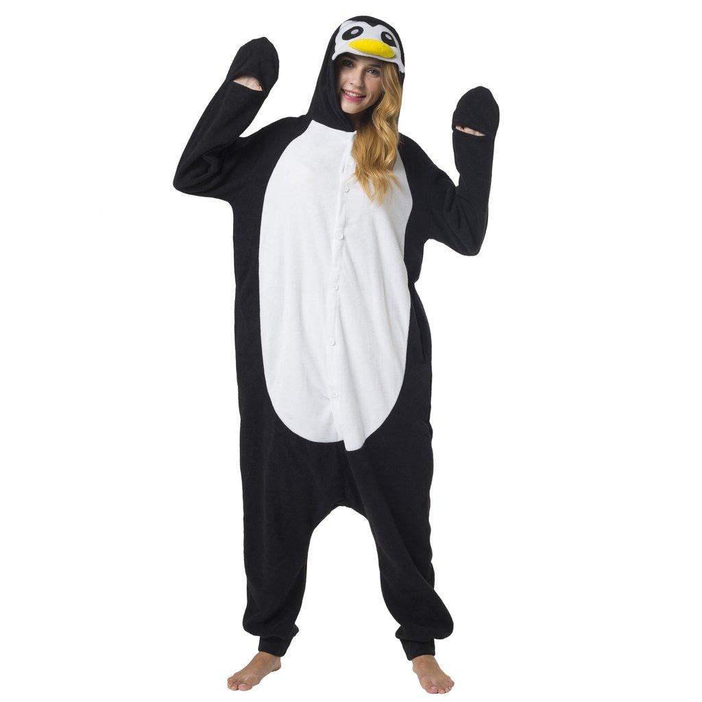 Katara - Disfraz Animal Pijama Una Pieza Adultos Color Pingüino Talla 165-175cm (L)