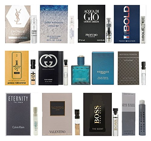 12 Men's Cologne Samples Vials & Miniature Set Tom Ford, Yves Saint Laurent