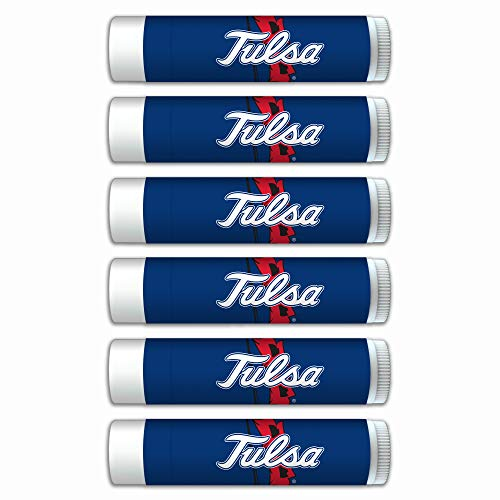 Tulsa Hurricanes Premium Lip Balm 6-Pack with SPF 15, Beeswax, Coconut Oil, Aloe Vera. Gifts for Men and Women, Valentine's Day, Easter, Mother's Day, Father's Day, stocking stuffers.