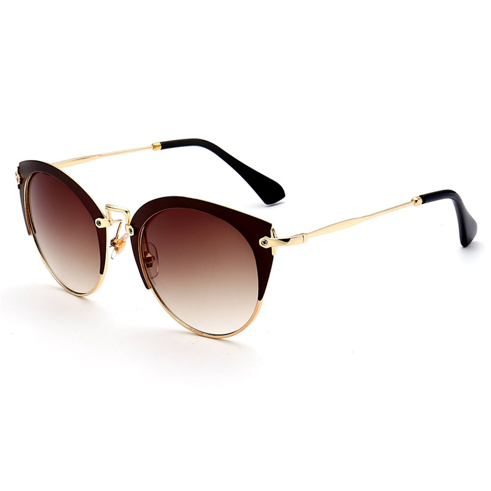 Meijunter Cat Eye Half Rahmen Sonnenbrille Anti-Glare UV400 Brille Eyewear Damen Herren Fishing Shopping Brille arbbYII