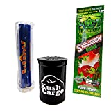 Bundle 3 Items - Juicy Jays Hemp Wraps Strawberry Fields All Natural with Roller Machine (6 Packs)