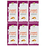 Good Earth Sweet and Spicy All-Natural Caffeine-Free Herbal Tea, Pack of 6 w/ 25 Tea Bags per Box