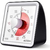 Alcoon Temporizador analógico visual de 60 minutos Temporizador de cuenta regresiva silencioso de 3 pulgadas Herramienta…