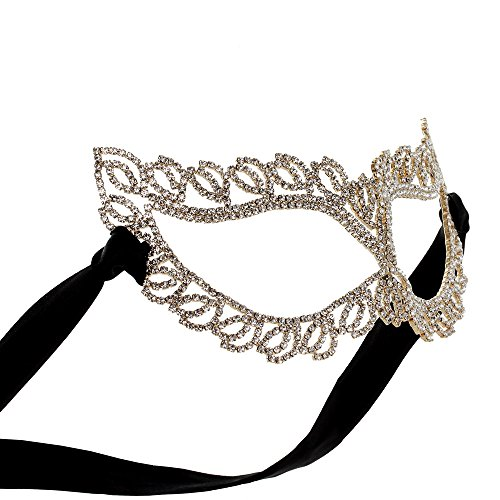 Crystal Rhinestone Fifty Shades Cat Eye Masquerade Ball