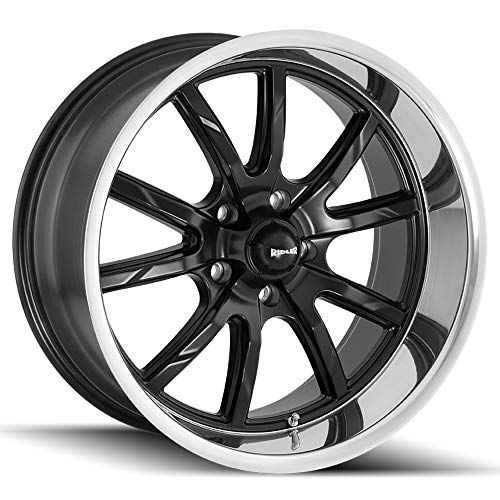 - Ridler 650 Matte Black/Polished Lip Wheel with Machined Finish (18 x 8. inches /5 x 114 mm, 0 mm Offset)